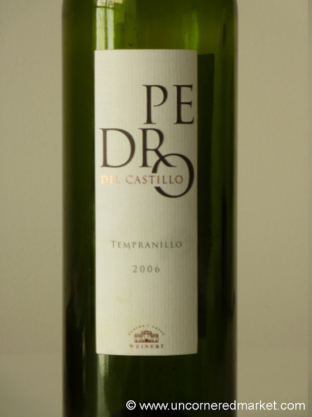 Pedro del Castillo, a Great Value Wine - Buenos Aires, Argentina