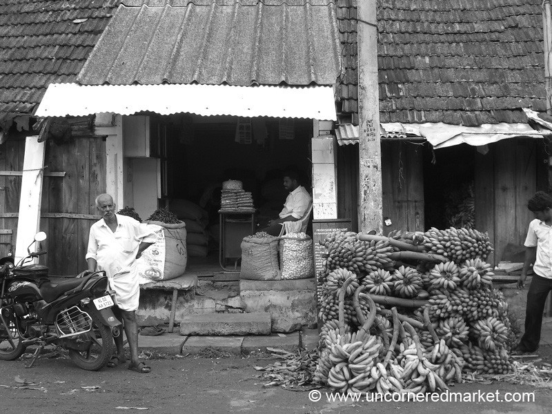 Bananas in Black and White - Kollam, India
