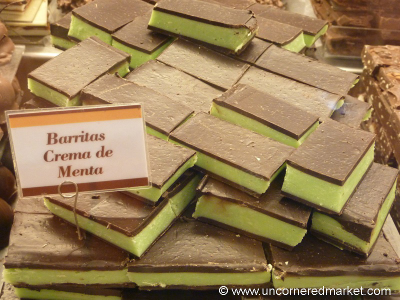 Mint-Filled Chocolate Bars in Bariloche, Argentina