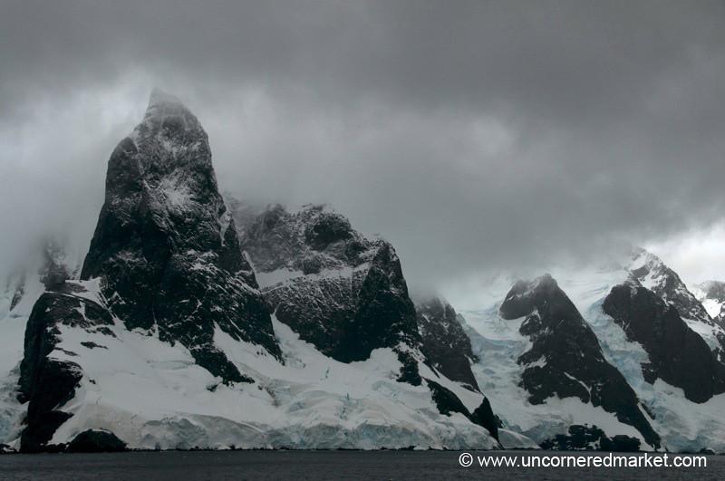 Mountiains Along Lamaire Channel - Antarctica