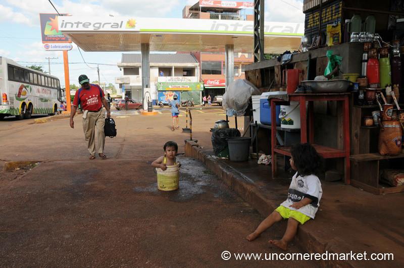 Encarnacion Bus Station Life - Paraguay