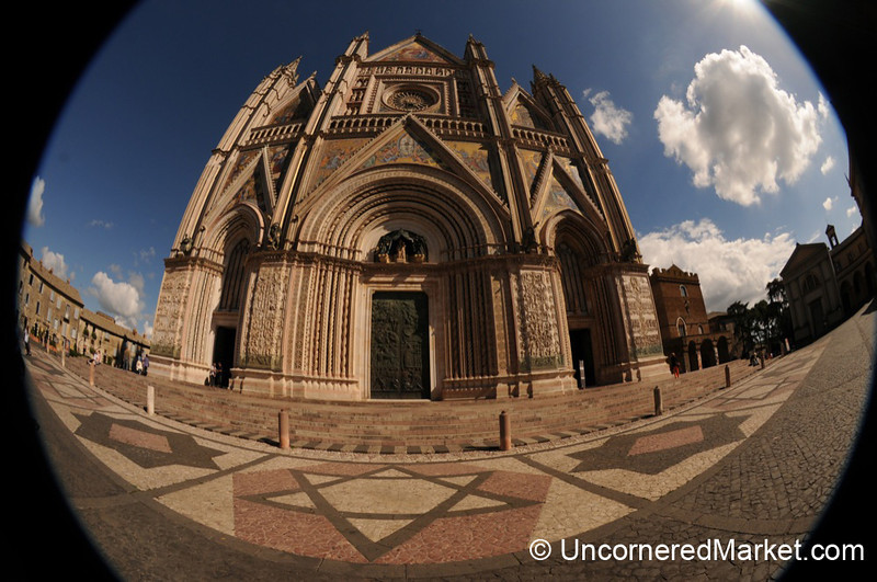Fisheye View of Orvieto's Cathedral - Umbria, Italy