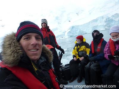 Dan Aboard the Zodiac - Hanusse Bay, Antarctica