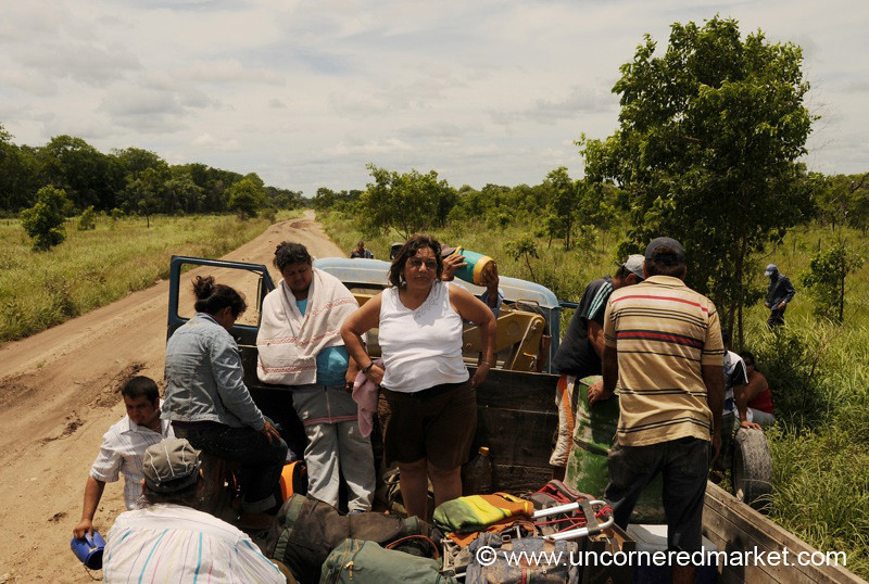 Another Breakdown - Truck Trip from Vallemi to Concepcion, Paraguay