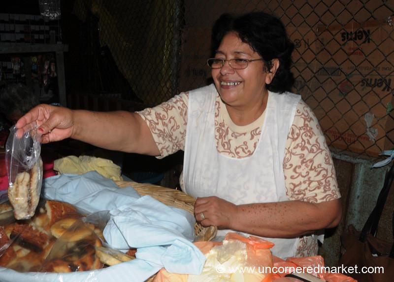 Selling Quesadillas at the Market - Masaya, Nicaragua