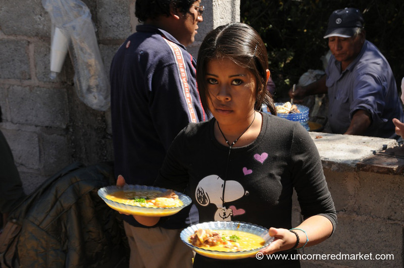 Serving Bowls of Locro - Northern Argentina