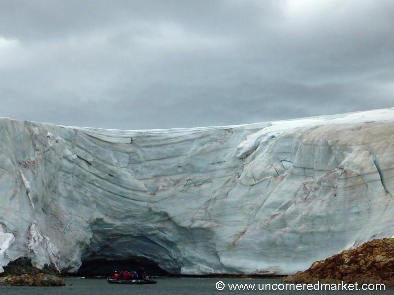 Zodiac Ride Near the Ice - Antarctica