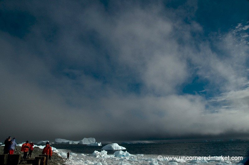 Skies Start to Clear - Antarctica