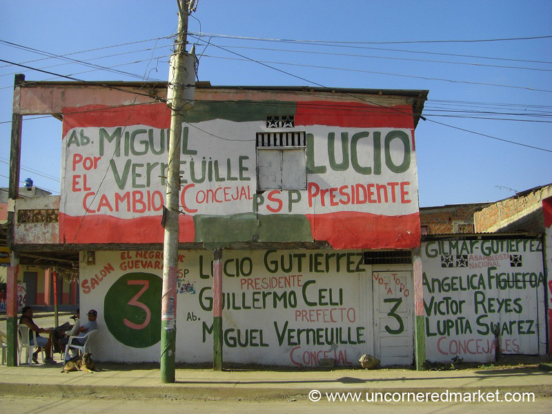 Election Season in Ecuador - Puerto Lopez, Ecuador