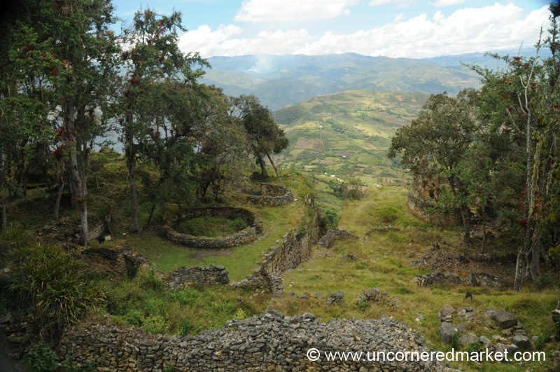 Looking Down from Kuelap - Near Chachapoyas, Peru