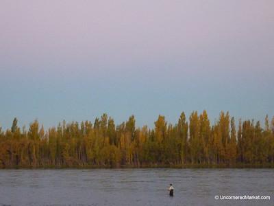 Fishing at Dusk - Neuquen, Argentina