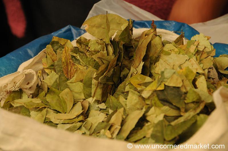 Coca Leaves for Sale - Huancavelica, Peru