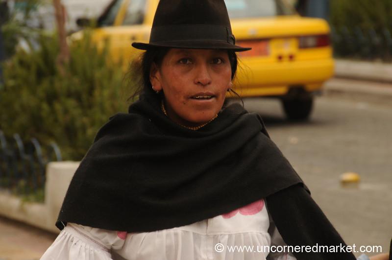 Selling at the Market - Otavalo, Ecuador