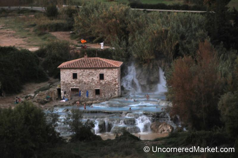 Saturnia Hot Springs in the Maremma Area of Tuscany