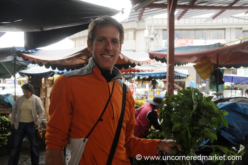 $0.25 of Basil in Cuenca, Ecuador