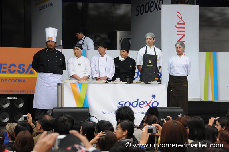 Awaiting Award for Best Ceviche - Mistura Gastronomy Festival in Lima, Peru