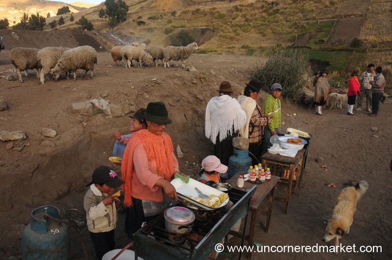 Early Morning Breakfast - Zumbahua, Ecuador