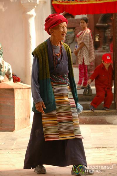 An Elderly Pilgrim at Bodhnath, Nepal