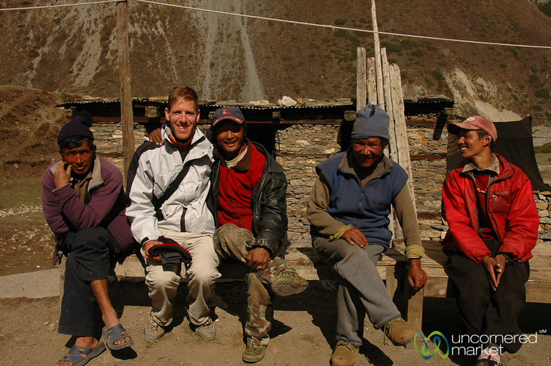 Dan Hangs with the Letdar Group - Annapurna Circuit, Nepal