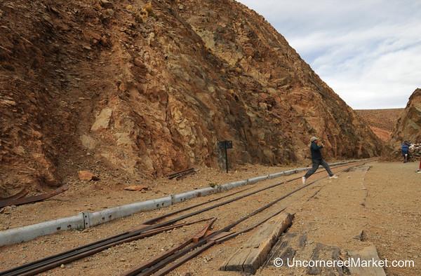 Moving Quickly Before the Train Comes - La Polvorilla Viaduct, Argentina