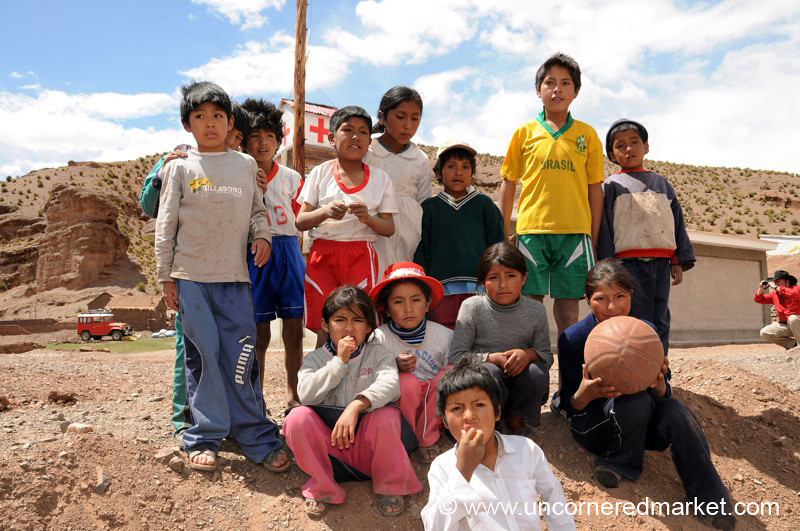 Village Kids - Salar Tour, Bolivia