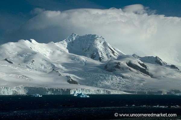 Mountain View from Half Moon Island - Antarctica