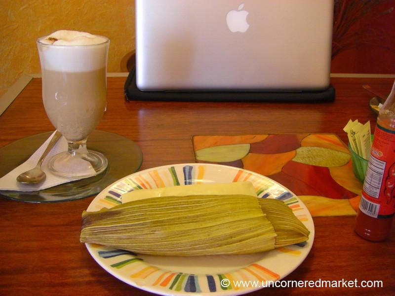 Humitas, Cheese and Coffee - Quito, Ecuador