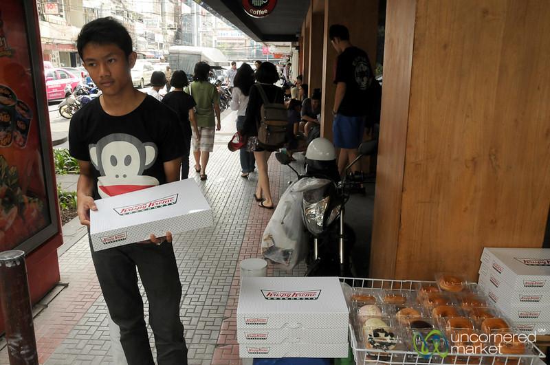 Scalping Krispy Kreme Donuts on the Streets of Bangkok