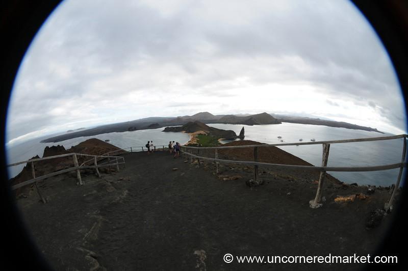 Fisheye Viewpoint from Bartolome Island - Galapagos
