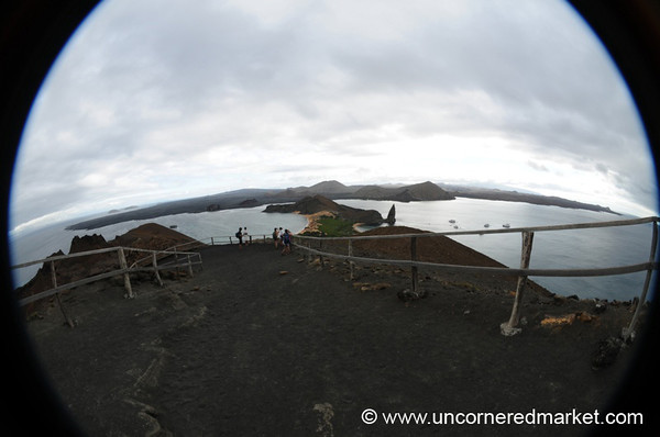 Fisheye Viewpoint from Bartolome Island - Galapagos