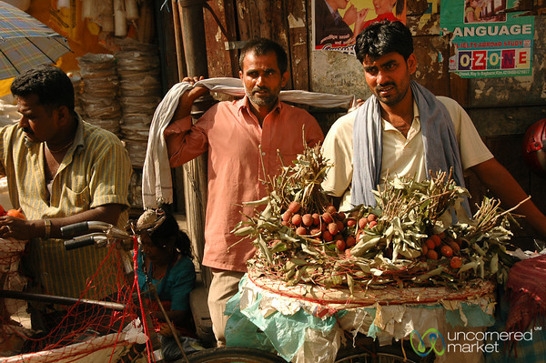 Selling Fruit on the Streets of Kathmandu - Nepal