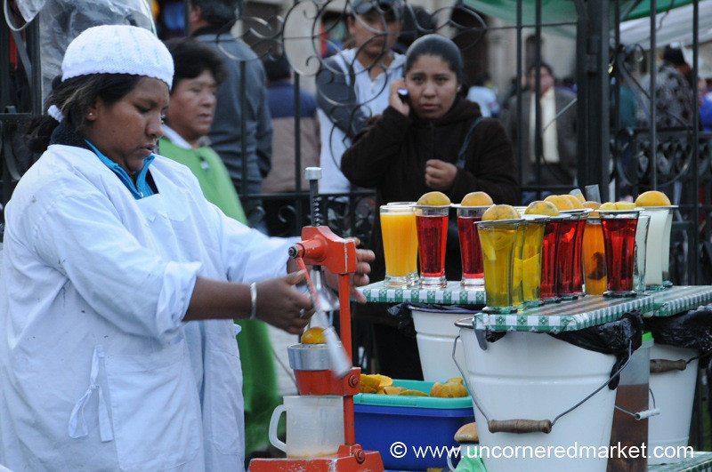 Juice Woman - La Paz, Bolivia