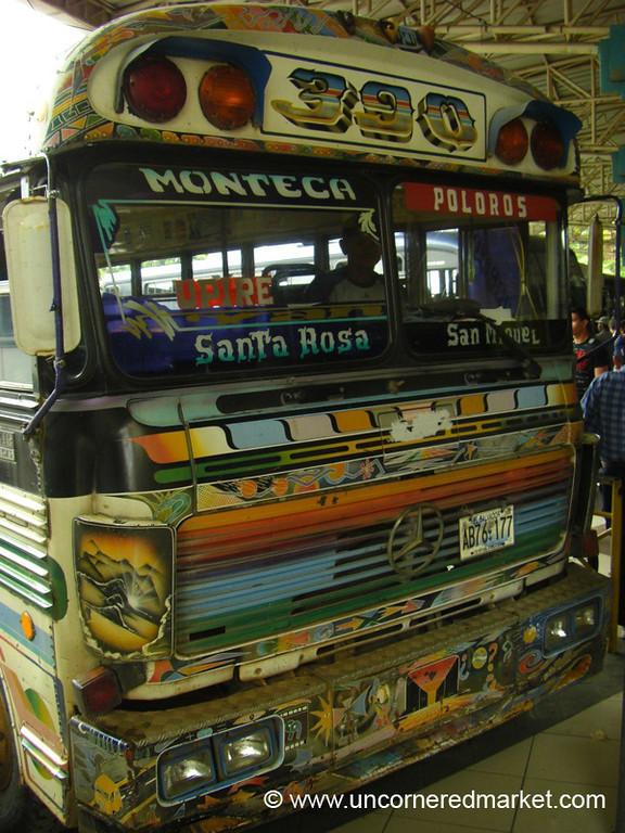 Chicken Bus to El Salvador Border