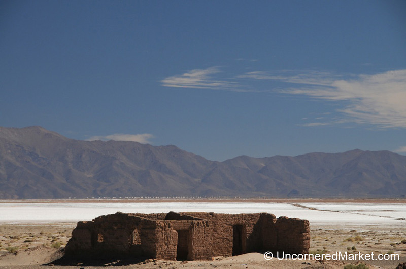A Beautifully Abandoned Building at the Salinas Grandes - Northwestern Argentina