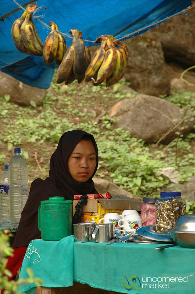 Bananas and Snacks at End of Trek - Annapurna Circuit, Nepal