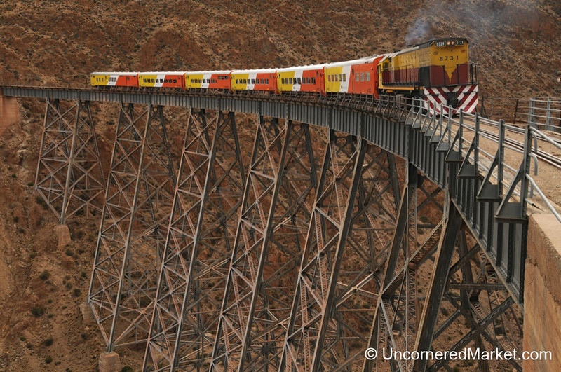 Train of the Clouds on the Polvorilla Viaduct in Northwestern Argentina