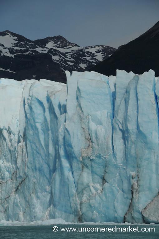 Vertical Lines at Perito Moreno Glacier - El Calafate, Argentina