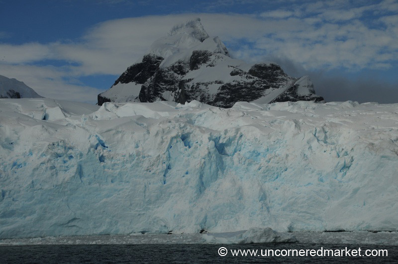 A Peak Peeks Out From the Glacier - Prospect Point, Antarctica