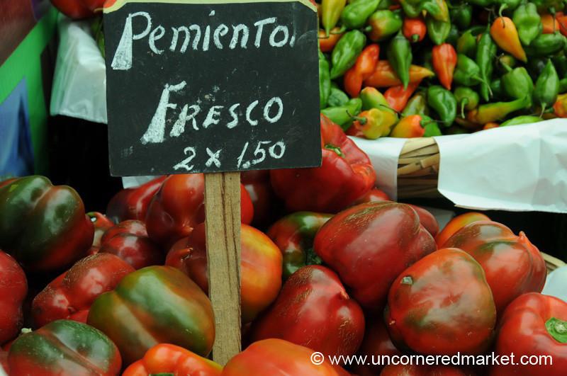 Fresh Peppers - Mistura Gastronomy Festival in Lima Peru
