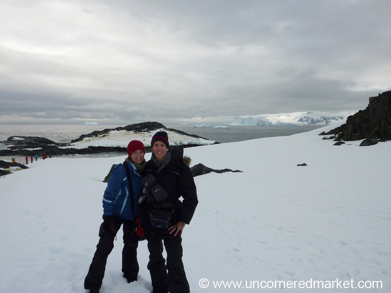 Dan and Audrey in Antarctica