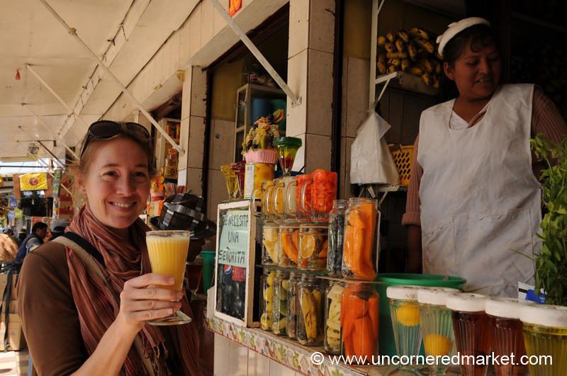 A Bolivian Juice Commerical - Oruru, Bolivia
