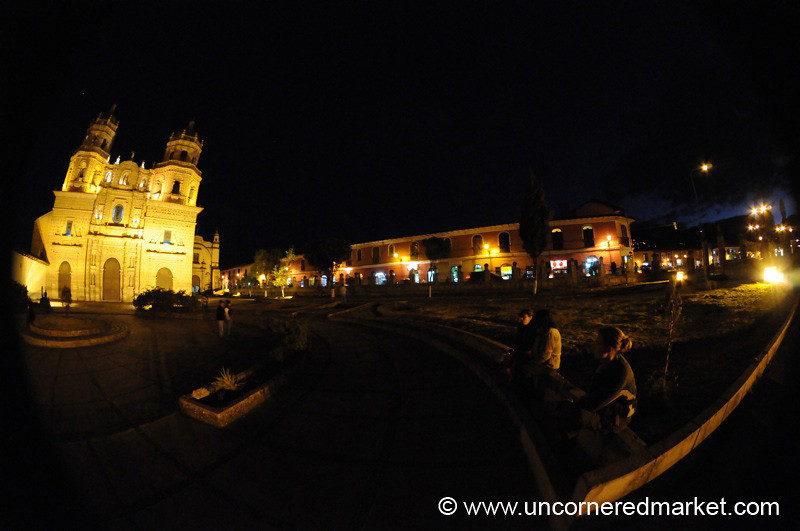 San Francisco Church in Fisheye - Cajamarca, Peru