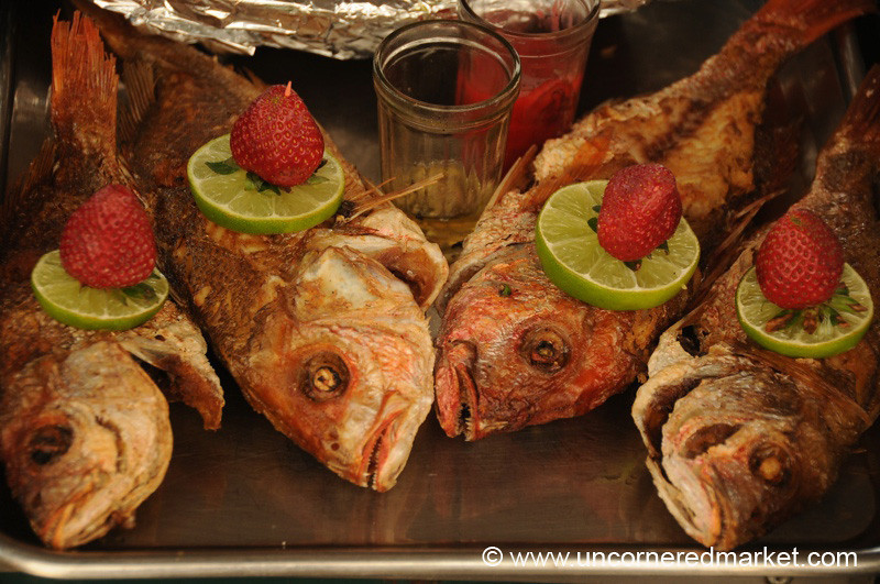 Fish and Strawberries - Juayua, El Salvador