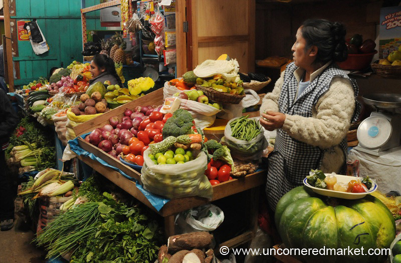Vegetable Woman - Cajamarca, Peru