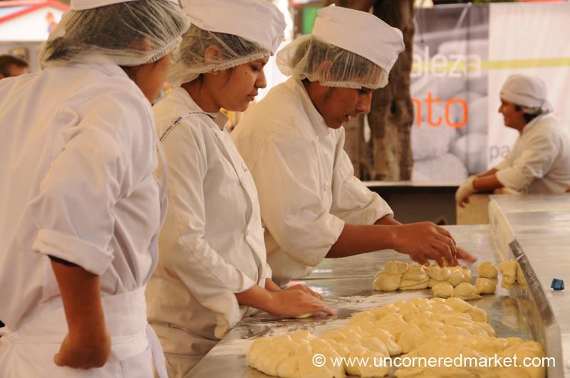 Little Balls of Dough - Mistura Gastronomy Festival in Lima, Peru