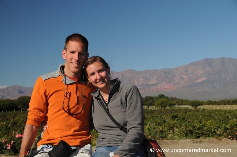 Audrey and Dan at a Winery Near Cafayate, Argentina