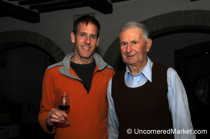Sharing a Glass of Brunello - Montalcino, Italy