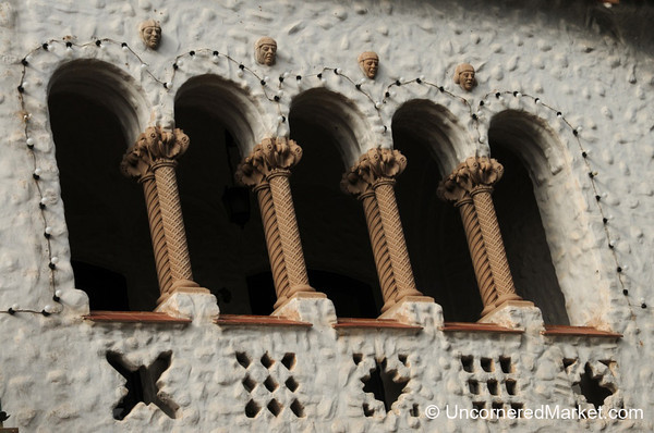 Arches and Heads on the Church in Humahuaca, Argentina