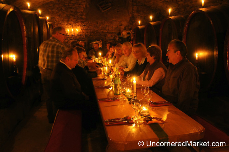 Candlelight Dinner in the Wine Cellar - Northern Bavaria, Germany