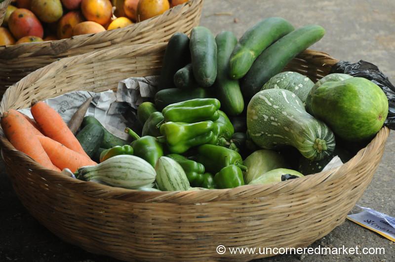 Basket of Vegetables - Juayua, El Salvador